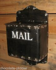 BLACK Letter MAILBOX*Kitchen Wall/Porch*Primitive/French Country Farmhouse Decor