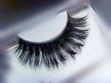 100% Real luxurious horse hair long thick false faux eyelashes reusable