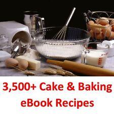 3,500 Plus-Pastel & Hornear Ebook Libros De Cocina & recetas en un DVD ROM