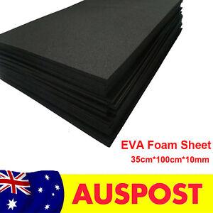 10mm Black EVA Foam Sheets Children Handmade DIY Craft Cosplay Model 35x100cm