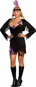 Makin' Reservations Suede Indian Adult Plus Womens Costume Native Halloween