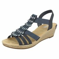 Rieker Ladies Wedge Sandals 62436