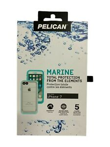 Pelican Marine Waterproof Case for iPhone 7 iPhone 8 & iPhone SE2020 Teal /Clear
