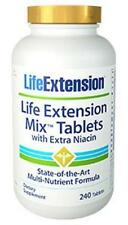 2X $44 Life Extension Mix Tablets Extra Niacin 240 tab 60 Day Supply NEW FORMULA