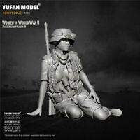 1/35 WWII Female Soldier panzerkampfwagen Resin Kits Figure Unpainted Model GK