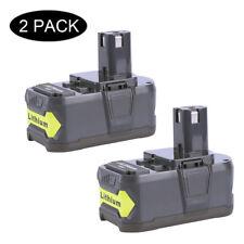 2-Pack 18V 5.0Ah High Capacity Li-ion Battery for Ryobi 18V ONE+ RB18L50 RB18L40