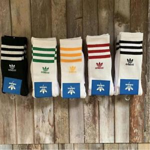 5Pairs Adidas Originasl Trefoil Unisex Adult Mid-Tube Socks Gym Sports Cotton AU