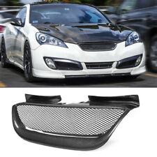 Carbon Fiber Black Front Mesh Grill Cover For Hyundai Genesis Coupe 2008-2012 AA