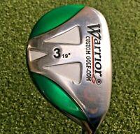 Warrior Golf 3 Hybrid 19*  / RH / Tour 3.1 Regular Graphite / Headcover / mm8964