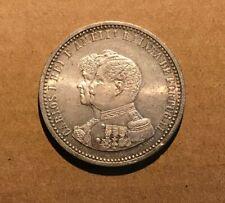 PORTUGAL - 1898 500 Reis aUNC/UNC Silver - D. Carlos I