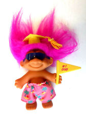 "Russ Berrie & Co. ""#1 Grad"" Troll Doll for Graduation Beach Boy 3.5"""
