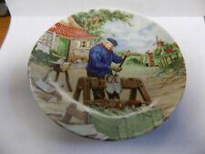 """Vintage Porcelain Miniature Plate~Dutch Cobbler~Royal Schwabap~Holland~5"""""""