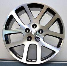 "Set (4) 22"" SRT10 Style Fits 2002 up Dodge Ram Wheels Rims Machined Black Inset"