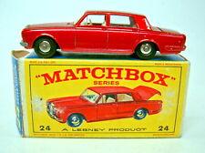 "Matchbox RW 24C Rolls Royce Silver Shadow met. rot schwarze Räder in ""E"" Box"