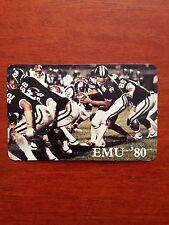 CFB 1980 EASTERN MICHIGAN HURONS EMU Football Schedule College FB