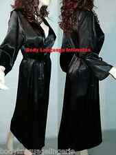black SATIN LONG ROBE womens LINGERIE PLUS SIZE 4x/5x/6x