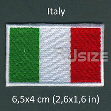 ITALY Country Flag Embroidered PATCH 6,5х4cm For sewn/ironed on Badge Chevron