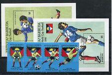 Antigua und Barbuda 1252/55 Block 160/61 postfrisch / Fußball ............1/1225