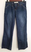 Abercrombie Fitch Jeans 00 Straight Wide Leg Dark Wash 100% Cotton Women's