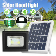 50LED Solar Flood Light Dusk-to-Dawn Outdoor Wall Spot Lamp W/Digital Display