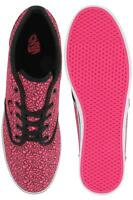 Vans Atwood ladies neon pink cheetah lace up canvas rubber trainer size 3.5