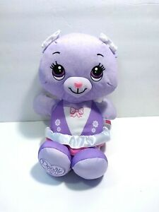 "Fisher Price Doodle Bear Girl Purple Pink Plush Ballerina Washable Draw 13"""