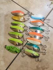 lot of 14 little cleo wigl lure spoons (1/3oz)