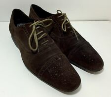 PAUL SMITH Dark Brown Suede Leather Brogues Shoes 7 / 41