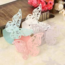 50 x Stück Serviettenringe Schmetterling für Papierservietten Tischdeko Hochzeit
