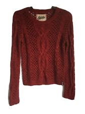 Superdry Knitted Womens Burgundy Cotton/Acryl Jumper S(C461)