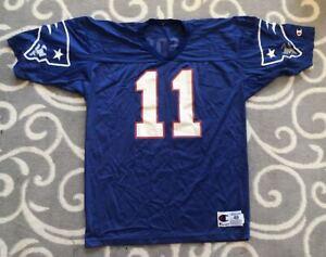 Vintage Drew Bledsoe New England Patriots Champion NFL Football Jersey Sz. 48
