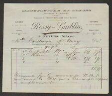 "NEVERS (58) USINE de LAINE Peignée & Cardée ""ROSSY & GUIBLIN"" en 1894"