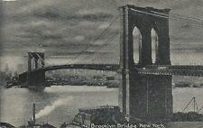 Postcard New York City Brooklyn Bridge Nr Mint 1930s