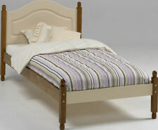 Steens Richmond Cream & Pine 3' Single Bed Frame complete with Solid Wood Slats