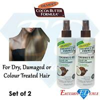 2 x Palmer's Coconut Oil Leave In Conditioner 250ml For Dry, Damaged Hair
