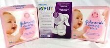 Philips® AVENT SCF330/30 Manual Breast Pump + 120 Johnson's® Nursing Pads, NEW