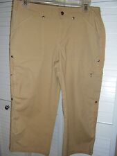 DANSKIN NOW GOLD SIZE SALL CARGO CAPRI WITH TAB TO SHORTEN TO BERMUDA LENGTH