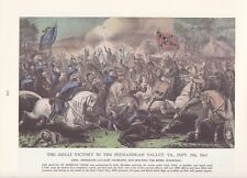 "1974 Vintage Currier /& Ives CIVIL WAR /""IRONCLADS FIGHT CHARLESTON/"" COLOR Litho"