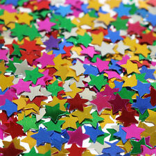 Metallic Shiny Christmas Star Gold Silver Red White Multicolour Star Confetti