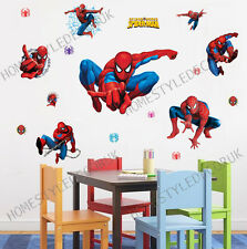 Large Superhero Spiderman Wall Stickers Decal Art Children Boys Kids Room Decor