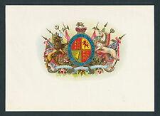 Royal Coat of Arms United Kingdom on Original Antique Cigar Box Label Art