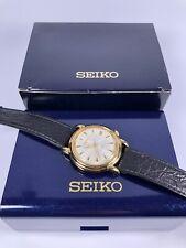 SEIKO Automatik Herren Armbanduhr 37mm vergoldet Datum Sekunde Ref.7002-8010