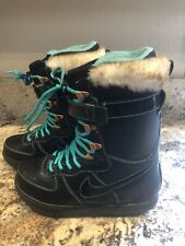 EUC Nike Zoom Force 1 Women's Black Snowboard Boots ZF-1 Size US 9.5 334842-001