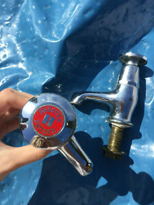 Pegler Yorkshire Self Closing Water Tap Pair (hot and cold) discontinued vintage