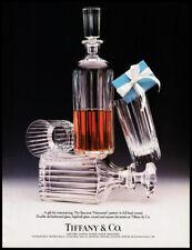 Baccarat lead crystal bar set 1988 print ad for Tiffany's
