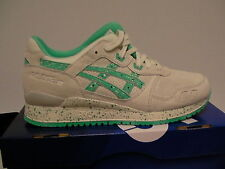 Asics running shoes gel-lyte iii size 7.5 us men lily white/aqua green new