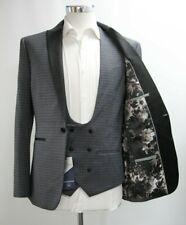 Neues AngebotHerren Next Skinny Fit Grau Geometrische Printed 3pc Anzug (40r)... ref: 6877