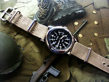 NATO ® WWII Military Watch Ltd Edition Army 21J Auto SS Sapphire IW SUISSE USA