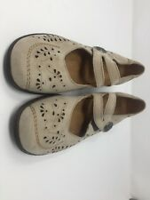 Luftpolster Medicus womens shoes sz 7.5 Airy Gray Suede leather Mary Jane Flats