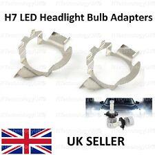 PREMIUM H7 LED Headlight Bulb Adapters Holders BMW MERCEDES JAGUAR VW VAUXHALL